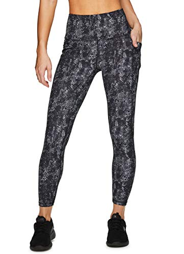 RBX Active Women's Workout Running Yoga Printed Ultra Soft High Waist Squat Proof Ankle/Full Length Legging
