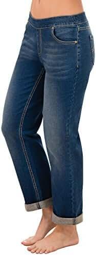PajamaJeans - Stretch Knit Denim Boyfriend Jeans for Women