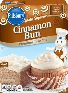 Cinnamon Mix Cake (Pillsbury Moist Supreme Premium Cake Mix-Cinnamon Bun-15.25 Oz-2 Pack)