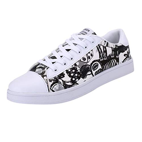 Black 39 BESSKY Women's Fashion Couples colorful Casual Mens Sport Outdoor Board shoes Sneakers