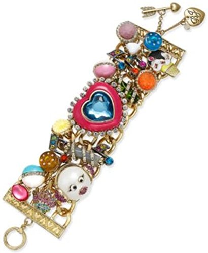 Betsey Johnson Heart Charm Bracelet Jewelry - Betsey Johnson xox Trolls Statement Charm Bracelet B11789-B01