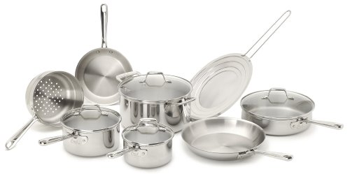 Emeril by All-Clad E914SC64 Cookware Set, 12-Piece, Sliver image