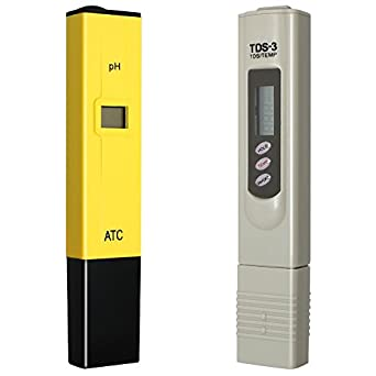 DLAND Digital PH Meter + TDS Tester Aquarium Pool Hydroponic Water Monitor 0-9999 PPM