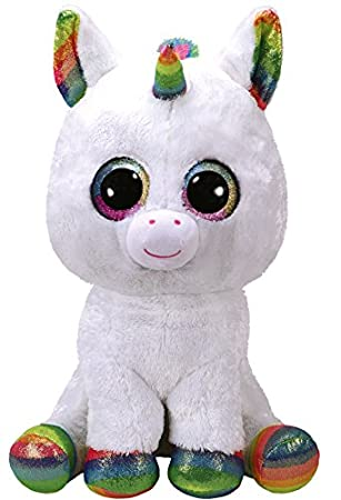 TY - Beanie Boos Pixy, peluche unicornio, color blanco, 40 cm (United
