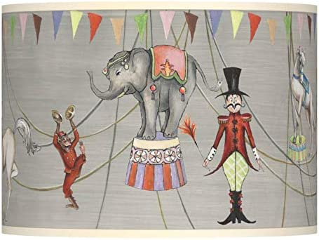Circus Time Giclee Lamp Shade 13.5×13.5×10 Spider – Giclee Glow