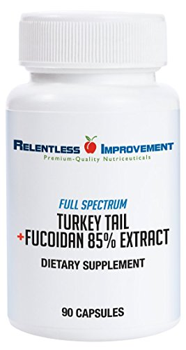 Relentless Improvement Fucoidan 85% Extract Plus Turkey Tail Mushroom NO FILLERS NO WAX For Sale