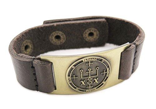 Archange Raphael Sigil Bracelet, cuir, réglable