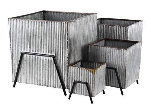 Deco 79 36793 Farmhouse Metal Plant Stands, 20