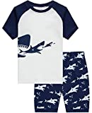 Boys Pajamas Shark Summer Short Clothes Kids Toddler Pjs Sleepwear Shirts 4t