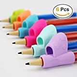 Pencil Grip,Warmtaste New Design Ergonomic Training Children Pencil Holder Pen Writing Aid Grip Posture Correction Tool 6PCS/Set