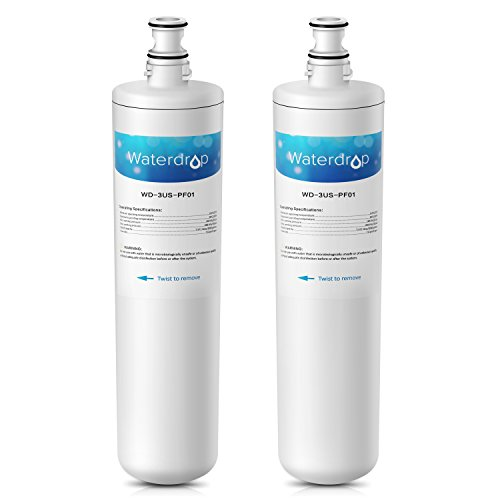 Waterdrop 3US-PF01 Drinking Water Filter Replacement for Filtrete Advanced 3US-PF01, 3US-MAX-F01H, 3US-PF01H, Delta RP78702, Manitowoc K-00337, K-00338 (2 Pack) by Waterdrop