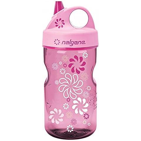 Nalgene Grip-n-Gulp Everyday Kids 12oz Water Bottle - 2 Pack (Pink Wheels) - Nalgene Grip N-gulp