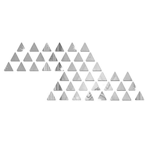 Acrylic Triangle Shape - Kicode 50pcs/set Small Triangle Shape Mirror Mural Wall Stickers Decal Art Cafe Home Room Decor Adhesive DIY