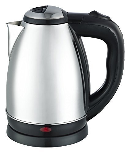 Maxware Stainless Steel Cordless Electric Kettle,Silver