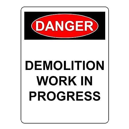 Zor345damilla Demolition Work in Progress Cartel de Aluminio ...