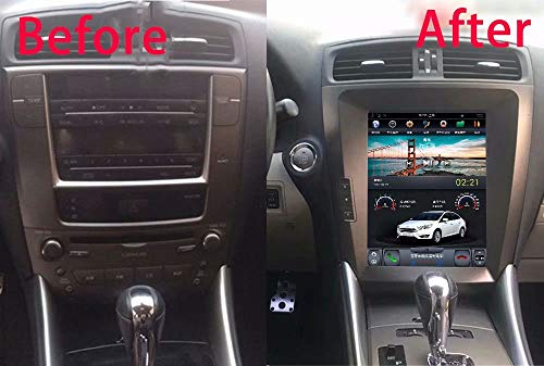 (ROADYAKO 10.4Inch 1Din Car Radio Media Player for Lexus IS250 IS300 2005 2006 2007 2008 2009 2010 2011 2012 Android 7.1 GPS Navigation Stereo WiFi 3G RDS Radio)