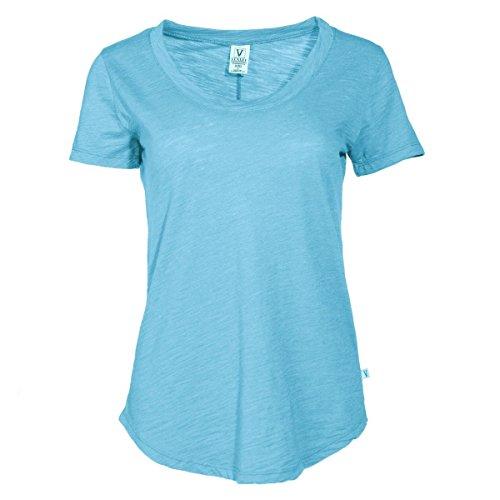Venley Women's Slub Crew Neck T-Shirt (T-shirt Slub Crewneck)