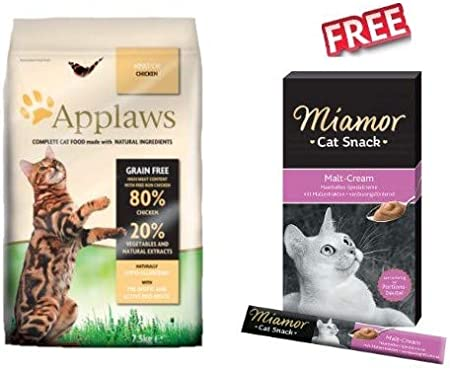 Applaws Chicken Cat Food For Adult Foods 7 5kg High Meat Based Protein Content Hypo Allergenic In Resealable Packaging Miamor Cat Snack Malt Cream 24 X 15g Amazon Co Uk Pet Supplies