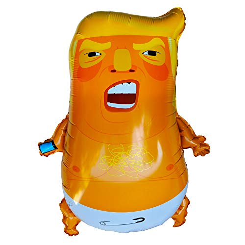 Baby Trump Foil Balloon Gigantic 24 Inch Floating if Filled with Helium Gold Punching Bag Funny Donald Blimp Party Novelty Gag Gift Also Pinata