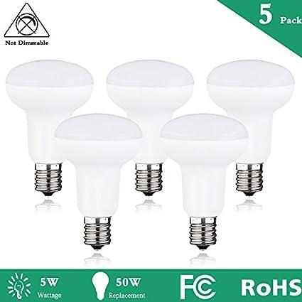 5-Packs R16 R14 LED Light Bulb, Mini Reflector Light Bulb ...