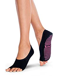 Pilates Ballet Womens Socks, Toeless Non Slip Sock - Workout, Barre, Yoga, Dance
