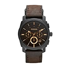 Fossil Men's FS4656 Leather Strap Analog with Brown Dial Watch