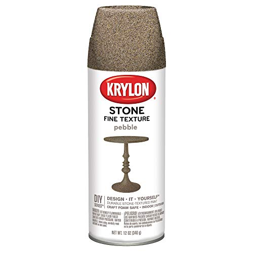 - Krylon K03702000  Fine Stone Textured Finish, Pebble