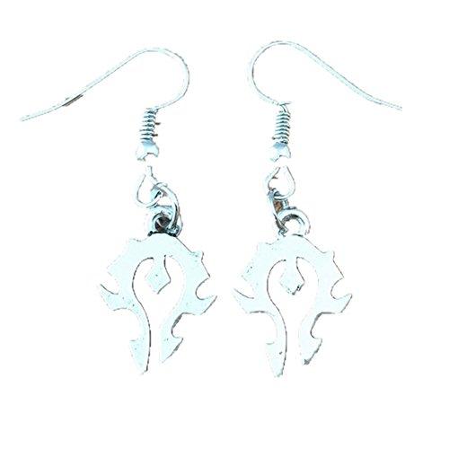 Outlander Wow Horde Logo Earring Dangles In Gift Box From