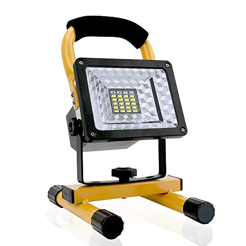 [15W 24LED] Spotlights Work Lights Outdoor Camping Lights, Built-in Rechargeable Lithium Batteries (With USB Ports to charge Mobile Devices)