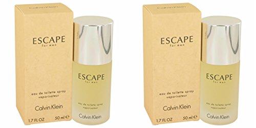 Cålvin Kléin Escápe Cologné For Men 1.7 oz Eau De Toilette Spray (2PCS) + a Free ()
