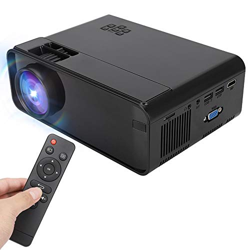 Full HD Mini Portable Projector, 4000 lumens Home Theater Projector LED Video Projector 1280x720 Support 1080P Compatible with Smartphone/HDMI/USB/VGA/AV, for Gaming Business&Education (US Plug) from Qioni