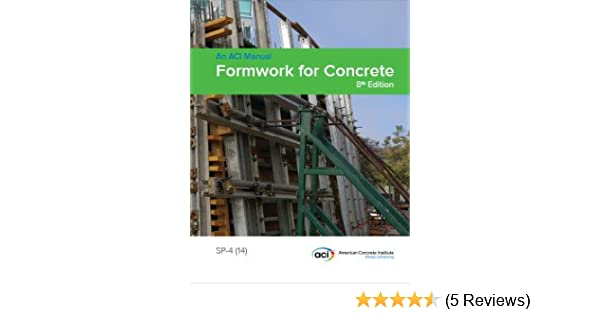 Aci Sp-4 Formwork For Concrete Pdf