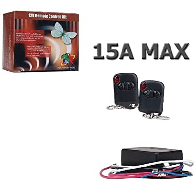 Logisys RM02 12V 15AMP Relay Kit with Two Remote Controls: Musical Instruments