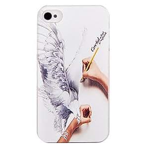 TY- Creativo Garabato plástico de nuevo caso para el iPhone 4/4S