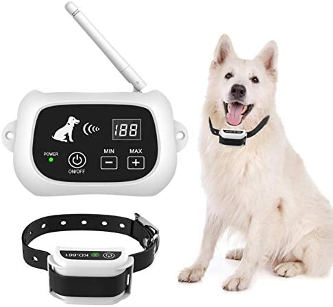 JZORI Wireless Dog Fence, Pet Containment System, Pets Dog Containment System Boundary Container with IP65 Waterproof Dog Training Collar Receiver, Adjustable Range, Harmless for All Dogs
