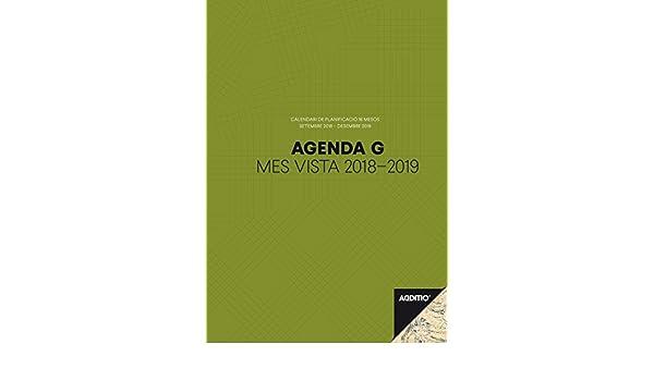 Additio P181 - Agenda G 2018-19, mes vista, catalán: Amazon ...