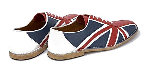 Delicious Junction Tommy Red White Blue &, in pelle, con lacci per scarpe da Bowling, da uomo