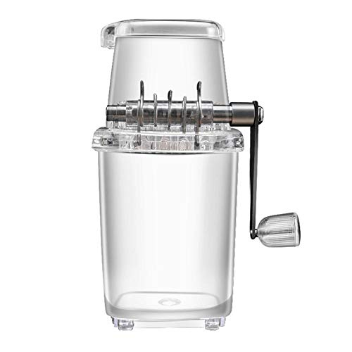 Ice Crusher Transparant Handleiding Ice Cube Crusher Ice Shaver Crusher Machine Voor Cocktails & Smoothies Thuis Bar…