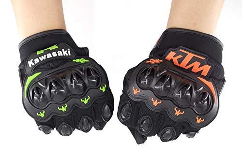 Summer Winter Full Finger motorcycle gloves gants moto luvas motocross leather motorbike guantes moto racing gloves Pnizun Green M