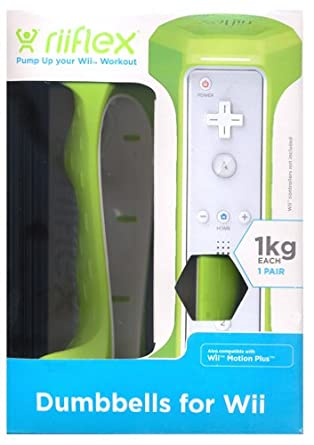 Riiflex - Set De Mancuernas De 1 kg (Nintendo Wii)