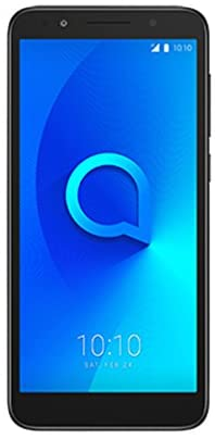 "Alcatel 1 5033J Unlocked Smartphone Dual Sim 5"" 18:9 Display, Android Oreo (Go Edition), 8MP Rear Camera, 4G LTE - Works Worldwide & in The U.S GSM Carriers -Black"