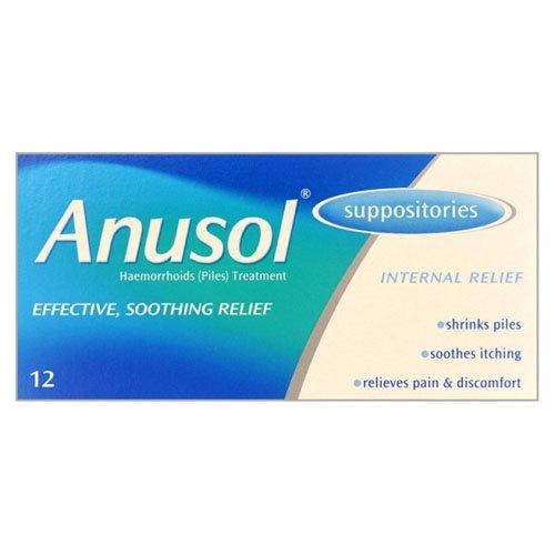 Anusol Plus HC Suppositories 12 - Buy Online in UAE