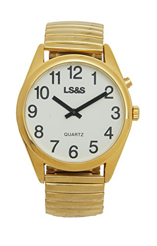Extra Large One Button Talking Watch - Gold Tone