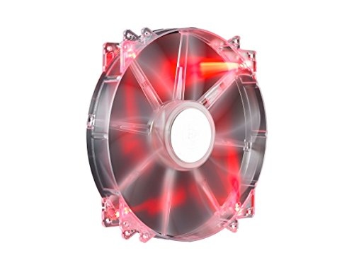 Cooler Master MegaFlow 200 - Sleeve Bearing 200mm Red LED Silent Fan for Computer Cases (Cooler Master Window Side Panel)