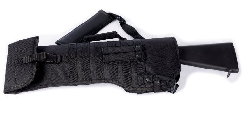 [Ultimate Arms Gear Tactical Stealth Black Ambidextrous Molle Ruger 10/22 10-22 Mini 14 Mini-14 Ranch Rifle Mini 30 Rifle Scabbard Soft Protective Carry Case] (Mini 14 Magazine)