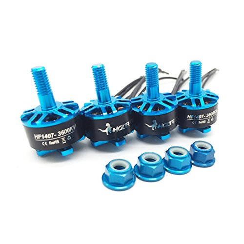 HGLRC Brushless Motor Blue 1407 3600KV Support 3S 4S Battery DIY for FPV Racing Drone Quadcopter Complete Motors ( 4PCS Blue Motors )