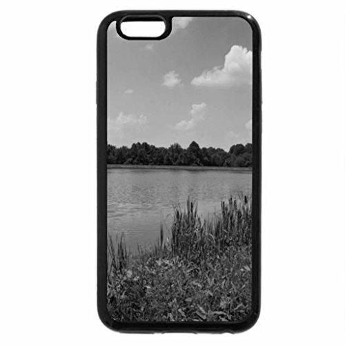 iPhone 6S Plus Case, iPhone 6 Plus Case (Black & White) - Lake