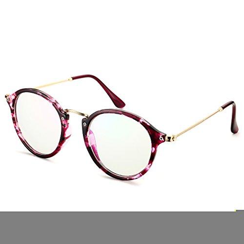 PenSee Vintage Inspired Round Circle Eyeglasses Clear Lens G