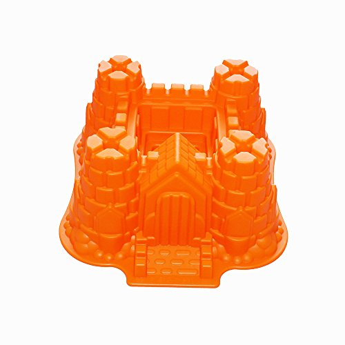 X-Haibei 3D Castle Bundt Cake Pan Chocolate Gelatinas Ice Cream Bakeware Silicone Mold