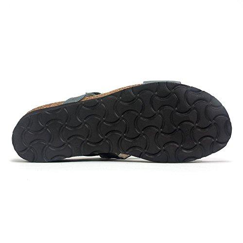 Naot Footwear Womens Gabriela Vintage Slate Leather MFQFxNe